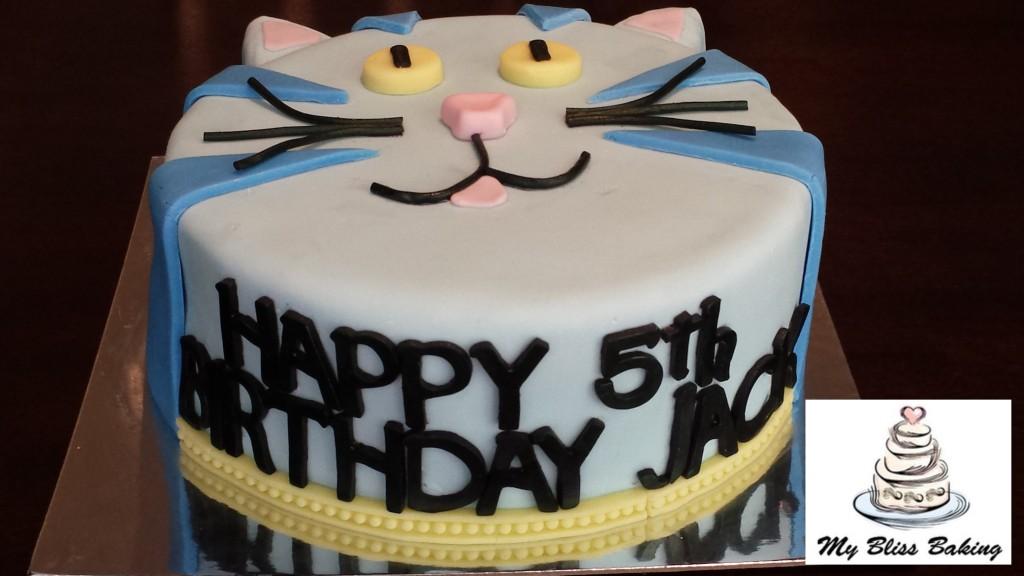 Blue Cat Birthday Cake