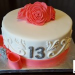Elegant 13th Birthday Cake