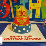 Wonder Woman 40th Birthday Cake