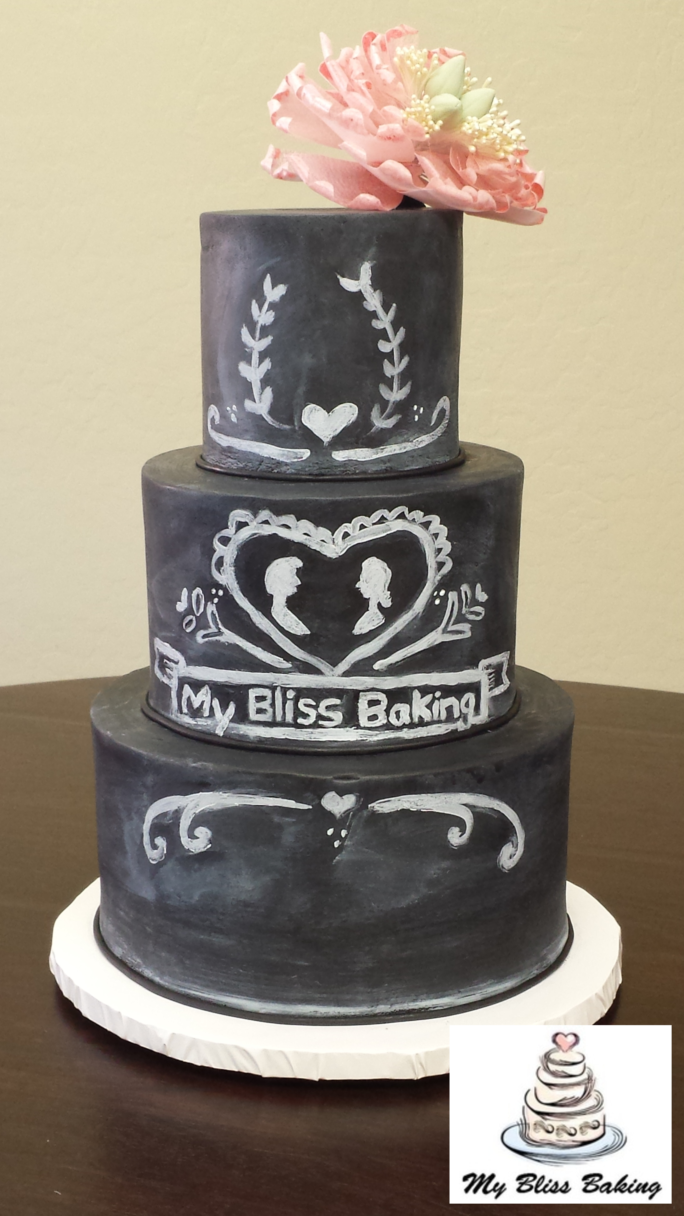 Chalkboard Wedding Cake My Bliss Baking Llc